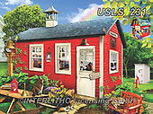 Lori, LANDSCAPES, LANDSCHAFTEN, PAISAJES, paintings+++++Little Red Schoolhouse_15_10.5_72,USLS231,#l#, EVERYDAY ,puzzle,puzzles