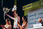 Tim Wellens (BEL) Lotto-Soudal retains the mountains Polka Dot Jersey at the end of Stage 8 of the 2019 Tour de France running 200km from Macon to Saint-Etienne, France. 13th July 2019.<br /> Picture: ASO/Thomas Maheux   Cyclefile<br /> All photos usage must carry mandatory copyright credit (© Cyclefile   ASO/Thomas Maheux)