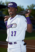 Winston-Salem Dash outfielder Micker Adolfo (27) poses for a photo prior to the game against the Lynchburg Hillcats at BB&T Ballpark on May 3, 2018 in Winston-Salem, North Carolina. The Dash defeated the Hillcats 5-3. (Brian Westerholt/Four Seam Images)