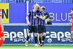 Waldhofs Jesper Verlaat (Nr.4) und rechts Waldhofs Marcel Seegert (Nr.5)  beim Spiel in der 3. Liga, SV Waldhof Mannheim - FSV Zwickau.<br /> <br /> Foto © PIX-Sportfotos *** Foto ist honorarpflichtig! *** Auf Anfrage in hoeherer Qualitaet/Aufloesung. Belegexemplar erbeten. Veroeffentlichung ausschliesslich fuer journalistisch-publizistische Zwecke. For editorial use only. DFL regulations prohibit any use of photographs as image sequences and/or quasi-video.