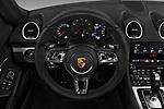 Car pictures of steering wheel view of a 2017 Porsche 718 Cayman S 3 Door Coupe