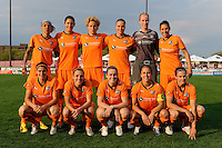 Sky Blue FC starting eleven. Sky Blue FC defeated the Chicago Red Stars 1-0 in a Women's Professional Soccer (WPS) match at Yurcak Field in Piscataway, NJ, on April 11, 2010.