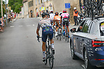 The breakaway featuring Emil Nygaard Vinjebo (DEN) Riwal Readynez Cycling Team during Stage 2 of the Route d'Occitanie 2020, running 174.5km from Carcassone to Cap Découverte, France. 2nd August 2020. <br /> Picture: Colin Flockton | Cyclefile<br /> <br /> All photos usage must carry mandatory copyright credit (© Cyclefile | Colin Flockton)