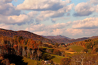 In autumn, the Cherokee National Forest  near Butler, Tennessee, and Watauga Lake, transforms itself to  look like a bowl of fruit loops. Lake Watauga is located in Northeastern Tennessee.