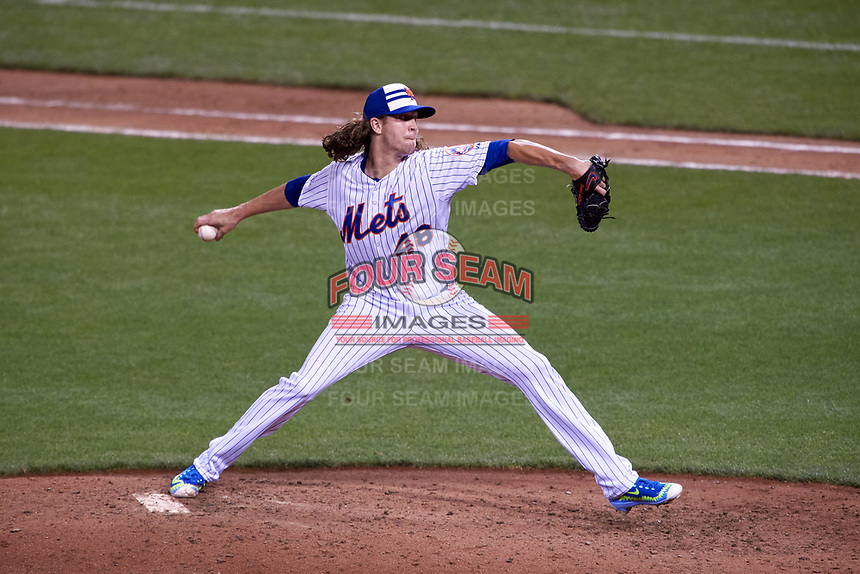 New York Mets pitcher Jacob deGrom during the MLB All-Star Game on July 14, 2015 at Great American Ball Park in Cincinnati, Ohio.  (Mike Janes/Four Seam Images)