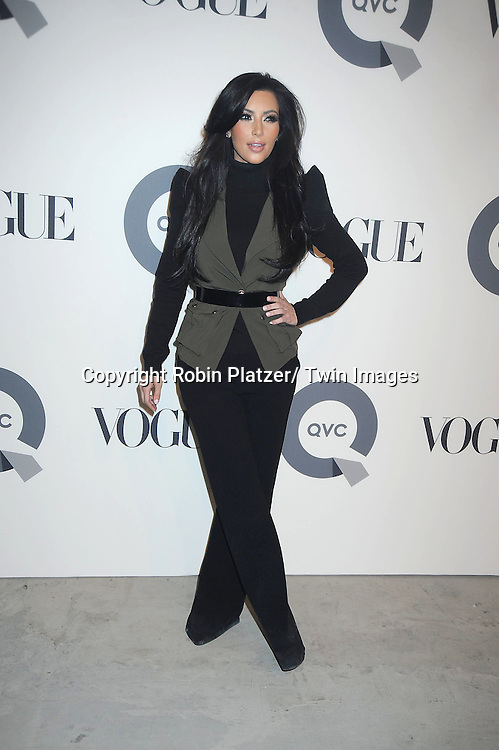 Kim Kardashian attending The QVC and Vogue Fashion Week Party on February 11, 2011 at 229 West 43rd Street in New York City.