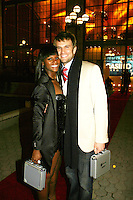 One Life To Live's Tika Sumpter and John Brotherton at the ABC Daytime Casino Night on October 23, 2008 at Guastavinos, New York CIty, New York. (Photo by Sue Coflin/Max Photos)