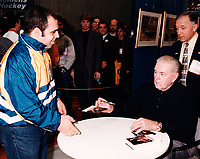Montreal (Qc) CANADA - File Photo - Maurice Richard, 1999<br /> <br /> PHOTO :  Agence Quebec Presse