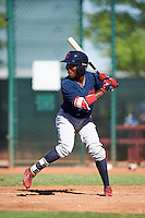 Cleveland Indians Gabriel Mejia (1) during an Instructional League game against the Kansas City Royals on October 11, 2016 at the Cleveland Indians Player Development Complex in Goodyear, Arizona.  (Mike Janes/Four Seam Images)