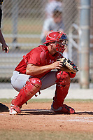 St. Louis Cardinals Andrew Knizner (38) during a Minor League Spring Training game against the Miami Marlins on March 26, 2018 at the Roger Dean Stadium Complex in Jupiter, Florida.  (Mike Janes/Four Seam Images)
