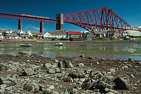 The Forth Railway Bridge and the Firth of Forth from North Queensferry, Fife