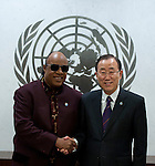 Secretary-General Ban Ki Moon, meeting with Mr. Steve Wonder