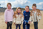Enjoying their fun and a walk in Banna on Saturday, l to r: Paige Quillinan, Indie Donaghy, Sophie Quillinan and Lola Rose Donaghy.