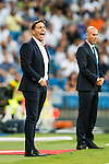 Coach Eduardo Berizzo of Celta de Vigo reacts during their La Liga match at the Santiago Bernabeu Stadium between Real Madrid and RC Celta de Vigo on 27 August 2016 in Madrid, Spain. Photo by Diego Gonzalez Souto / Power Sport Images