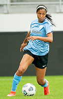 WASHINGTON D.C., ON MARCH 28, 2021 - MARCH 28: Washington, D.C.- March 28: Sky Blue FC forward Margaret Purce (23)  during a match between the Washington Spirit and Sky Blue FC at Audi Field, in Washington D.C., on March 28, 2021 during a game between Sky Blue FC and Washington Spirit at Audi Field, in Washington D.C., on March 28, 2021 in Washington D.C., on March 28, 2021.