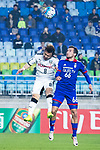 Suwon Midfielder Damir Sovsic (R) fights for the ball with Kawasaki Midfielder Abe Hiroyuki (L) during the AFC Champions League 2017 Group G match between Suwon Samsung Bluewings (KOR) vs Kawasaki Frontale (JPN) at the Suwon World Cup Stadium on 25 April 2017, in Suwon, South Korea. Photo by Yu Chun Christopher Wong / Power Sport Images