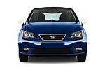 Car photography straight front view of a 2016 Seat Ibiza ST Style 5 Door Wagon Front View