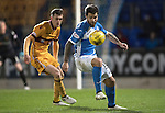 St Johnstone v Motherwell…17.12.16     McDiarmid Park    SPFL<br />Richie Foster and Jack McMillan<br />Picture by Graeme Hart.<br />Copyright Perthshire Picture Agency<br />Tel: 01738 623350  Mobile: 07990 594431