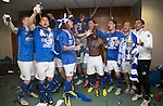St Johnstone v Dundee United....17.05.14   William Hill Scottish Cup Final<br /> The St Johnstone players celebrate in their dressing room<br /> Picture by Graeme Hart.<br /> Copyright Perthshire Picture Agency<br /> Tel: 01738 623350  Mobile: 07990 594431