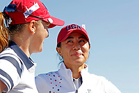 5th September 2021; Toledo, Ohio, USA;  Austin Ernst and Danielle Kang of Team USA in an interview after winning their match on the 18th hole during the morning Four-Ball Pairings during the Solheim Cup on September 5th