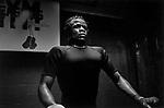 Ghanaian boxer Joshua Clottey during a training session at Gleason's Gym. Brooklyn , New York.   <br />Photo by Thierry Gourjon-Bieltvedt 1996.