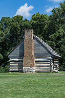 The Hermitage slave quarters cabin, Tennessee, USA.