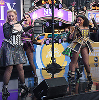 NEW YORK, NY - September 23: The cast of Six The Musical perform on Good Morning America on Times Square in New York City on September 23, 2021. Credit: RW/MediaPunch