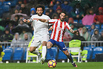 "Marcelo Vieira Da Silva (l) of Real Madrid battles for the ball with Manuel Castellano ""Lillo"" of Real Sporting de Gijon during the La Liga match between Real Madrid and Real Sporting de Gijon at the Santiago Bernabeu Stadium on 26 November 2016 in Madrid, Spain. Photo by Diego Gonzalez Souto / Power Sport Images"