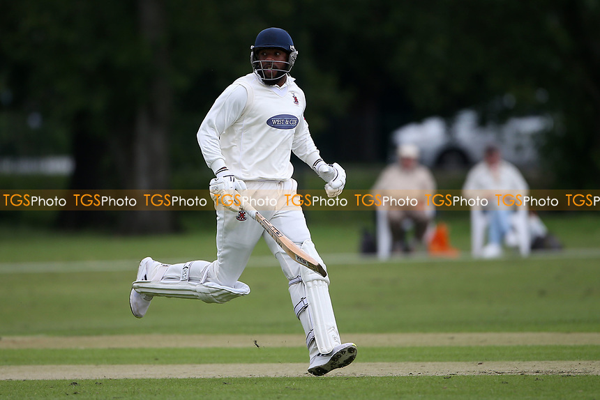 M Westfield in batting action for Hornchurch during Hornchurch CC vs Wanstead and Snaresbrook CC, Hamro Foundation Essex League Cricket at Harrow Lodge Park on 10th July 2021