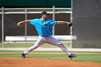 Miami Marlins pitcher Colton Hock (23) during a Minor League Spring Training camp day on April 27, 2021 at Roger Dean Chevrolet Stadium Complex in Jupiter, Fla.  (Mike Janes/Four Seam Images)