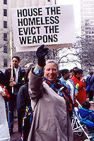 Nancy Mitchell at Coalition for Basic Human Needs at Mother's Day March in Boston MA 5.12.95