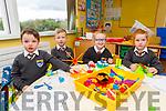 Junior infants enjoying their first day at St Brendans NS Fenit on Thursday.