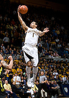 Justin Cobbs of California shoots the ball during the game against Oregon at Haas Pavilion in Berkeley, California on February 16th, 2012.  California defeated Oregon, 86-83.