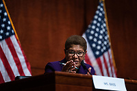 United States Representative Karen Bass (Democrat of California) speaks during a US House Judiciary Committee at a hearing on police accountability on Capitol Hill in Washington, DC on June 10, 2020.<br /> Credit: Erin Schaff / Pool via CNP/AdMedia