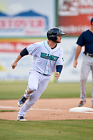 Lynchburg Hillcats right fielder Trenton Brooks (13) runs the bases during the first game of a doubleheader against the Potomac Nationals on June 9, 2018 at Calvin Falwell Field in Lynchburg, Virginia.  Lynchburg defeated Potomac 5-3.  (Mike Janes/Four Seam Images)