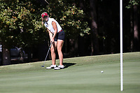 CHAPEL HILL, NC - OCTOBER 11: Smith Knaffle of the University of South Carolina putts at UNC Finley Golf Course on October 11, 2019 in Chapel Hill, North Carolina.