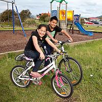 Maori Brother and Sister, Ohinemutu Maori Village, Rotorua, north island, New Zealand.
