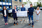 TLI Group in Abbeydorney presenting a cheque for €2,278:00 to Pieta House on Monday.<br /> L to r: Mary McGillicuddy, Con O'Connor (Pieta House), John Tuite, Bryan Daly and Noelle O'Brien