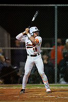 Sarasota Sailors Satchell Norman (19) bats during a game against the Riverview Rams on February 19, 2021 at Rams Baseball Complex in Sarasota, Florida. (Mike Janes/Four Seam Images)