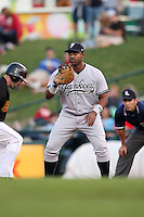September 4, 2009:  First Baseman Juan Miranda of the Scranton Wilkes-Barre Yankees during a game at Frontier Field in Rochester, NY.  Scranton is the Triple-A International League affiliate of the New York Yankees and clinched the North Division Title with a victory over Rochester.  Photo By Mike Janes/Four Seam Images
