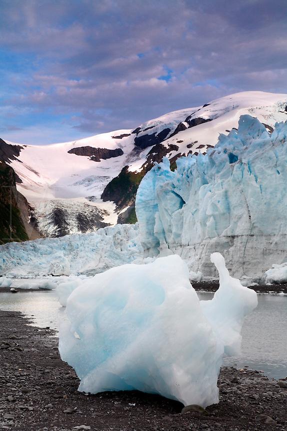 Harriman Glacier, Harriman Fiord, Prince William Sound, Chugach National Forest, Alaska.