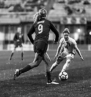Harrison, NJ - March 8, 2018: SheBelieves Black and White Feature.