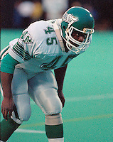 Billy Jackson Saskatchewan Roughriders 1986. Photo F. Scott Grant