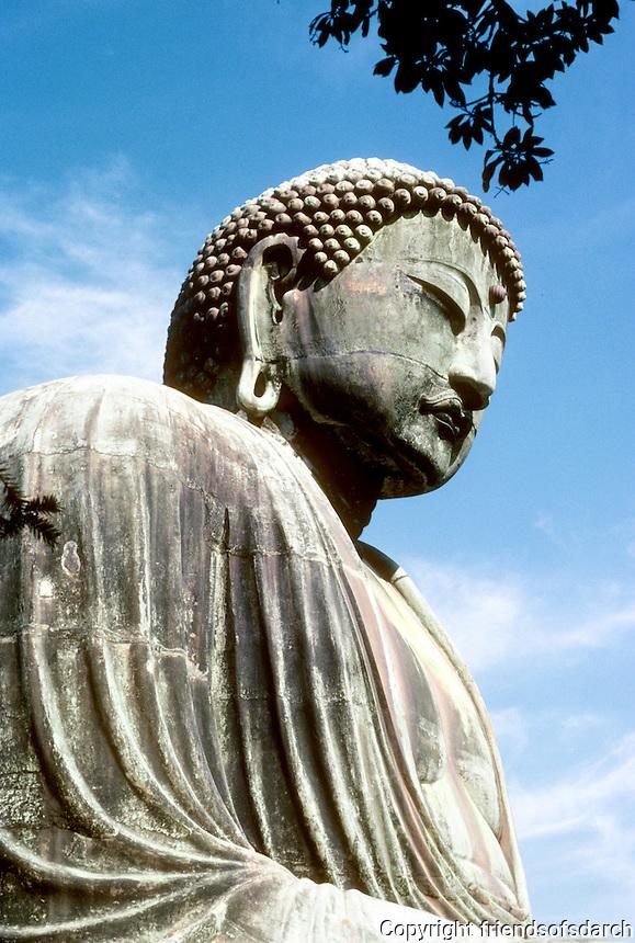 Kamakura: Side view of Great Bronze Buddha. Photo '81.