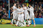 Real Madrid players celebrate victory during la liga match on april 21st 2012...Photo: Cesar Cebolla / ALFAQUI