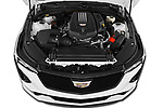Car Stock 2020 Cadillac CT4-V V-Series 4 Door Sedan Engine  high angle detail view