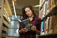 NEW YORK - FOR SUNDAY NEWS:  Anne Barreca, 34, Library Manager at the Battery Park City Library, Manhattan, NY, Thursday, October 12, 2017.  <br /> <br /> PICTURED:   <br /> <br /> <br /> (Angel Chevrestt, 646.314.3206)