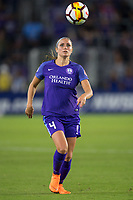 Orlando, FL - Saturday March 24, 2018: Orlando Pride defender Shelina Zadorsky (4) during a regular season National Women's Soccer League (NWSL) match between the Orlando Pride and the Utah Royals FC at Orlando City Stadium. The game ended in a 1-1 draw.