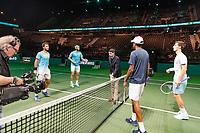 Rotterdam, The Netherlands, 16 Februari 2019, ABNAMRO World Tennis Tournament, Ahoy, semis, doubles, Jean-Julien Rojer (NED) / Horia Tecau (ROU) vs Rajeev Ram (USA) / Joe Salisbury (GBR),<br /> Photo: www.tennisimages.com/Henk Koster