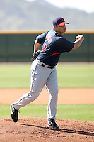 Cory Burns, Cleveland Indians 2010 minor league spring training..Photo by:  Bill Mitchell/Four Seam Images.